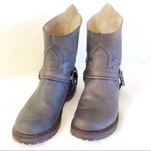 Freebird by Steven Hatch Leather Stud Boots 9.5